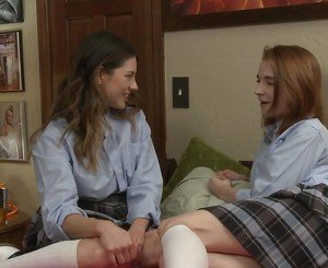 Schoolgirls Shyla Jennings and